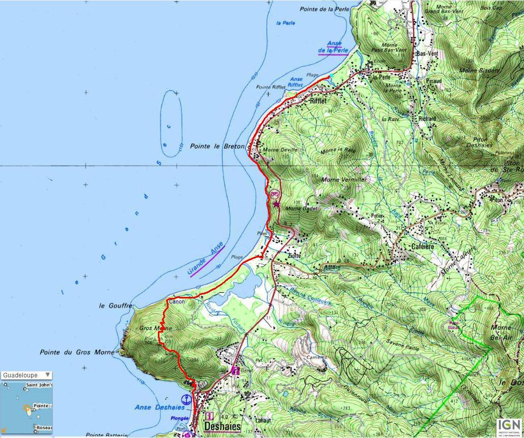 Le Littoral de Deshaies · Randonnées en Guadeloupe