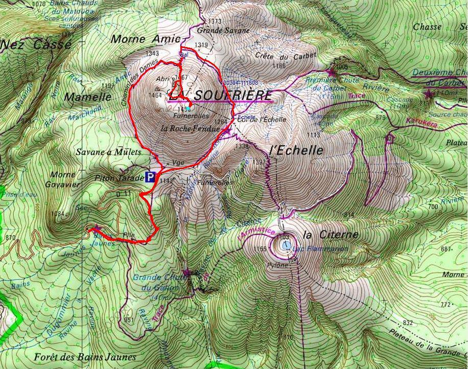 La Soufrière par le col de l'Echelle · Randonnées en Guadeloupe